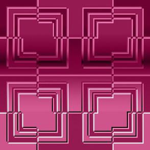 Broken Square Embossed Dark Pink