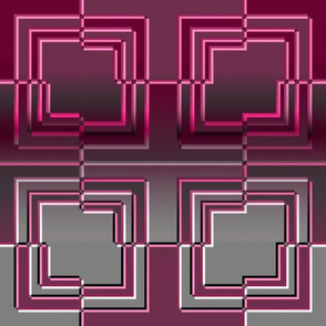 Broken Square Embossed Pink Gray