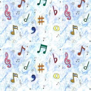 watercolour musical notes
