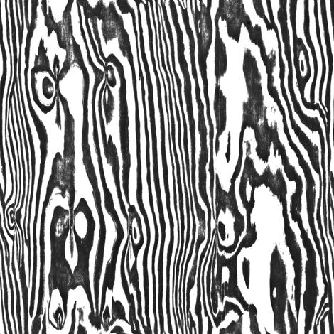 Faux Bois Woodgrain ~ Zebra  fabric by peacoquettedesigns on Spoonflower - custom fabric