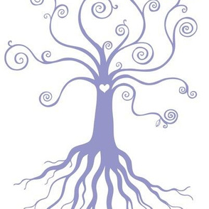 Tree of Life - blue on white