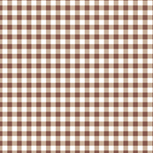 brown and white checks