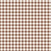brown and white checks