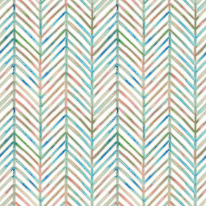 pine chevron - white