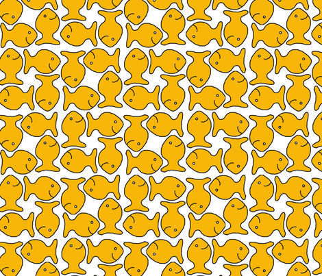 School of Goldfish fabric by sixsleekswans on Spoonflower - custom fabric