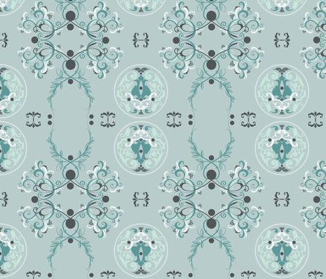The Sun King Blue fabric by adinamayo on Spoonflower - custom fabric