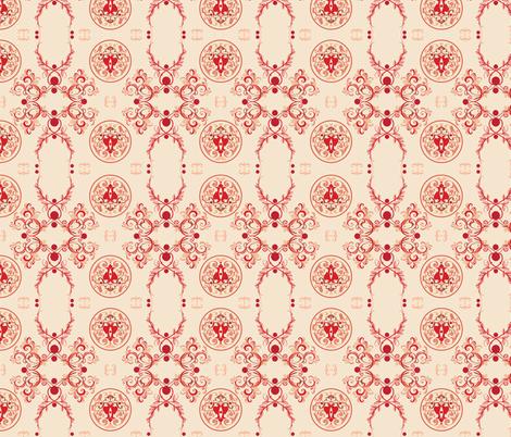 The Sun King Red fabric by adinamayo on Spoonflower - custom fabric