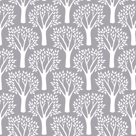 Family Tree (Gray) fabric by robyriker on Spoonflower - custom fabric