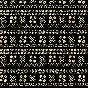 mud cloth african cowrie black cream
