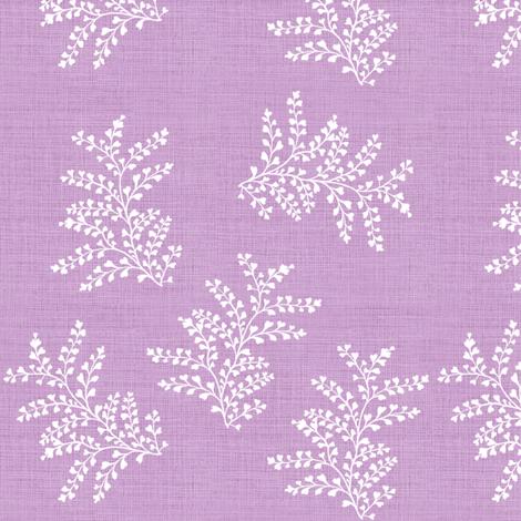 DelicateFern_II_BrightLilac fabric by thistleandfox on Spoonflower - custom fabric