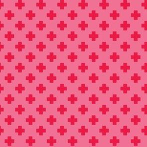 Watermelon Tiny Crosses