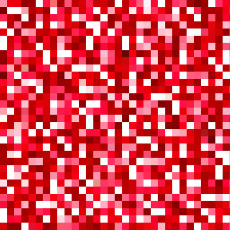ruby red pixels fabric by weavingmajor on Spoonflower - custom fabric