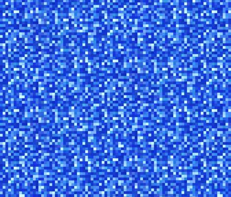 sapphire blue pixels fabric by weavingmajor on Spoonflower - custom fabric