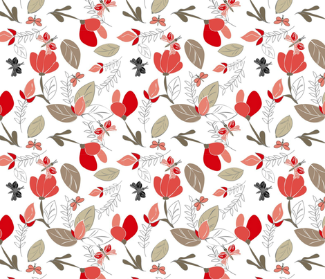 Autumnal Florist fabric by floramoon on Spoonflower - custom fabric