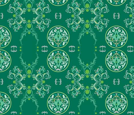 The Sun King Green fabric by adinamayo on Spoonflower - custom fabric