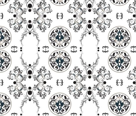 The Sun King Gray fabric by adinamayo on Spoonflower - custom fabric
