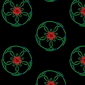 Star Wire Red Green