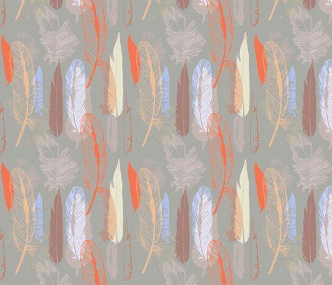 Feather Light fabric by floramoon on Spoonflower - custom fabric