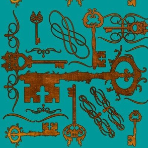 Steampunk Keys Blue