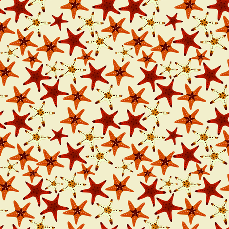 Starfish fabric by arts_and_herbs on Spoonflower - custom fabric