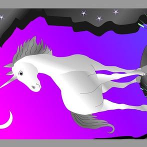 unicorn tea towel or panel