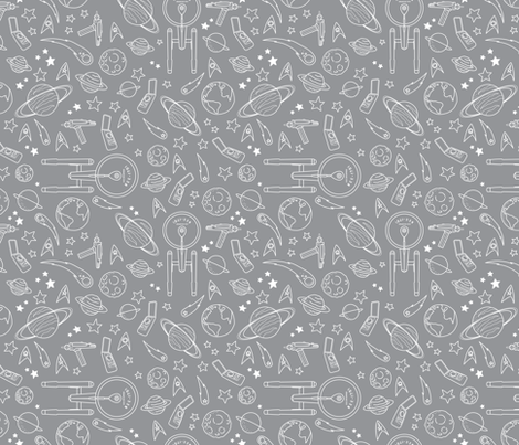 To Boldly Go – Star Trek TOS Pattern fabric by shelby_bass on Spoonflower - custom fabric