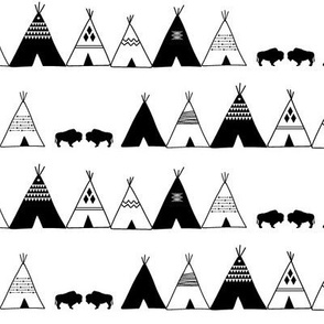 black and white teepee || wild & free