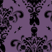 Star Trek damask in purple