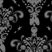 Star Trek damask in black