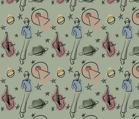 Spock and Things fabric by sleepymccoy on Spoonflower - custom fabric