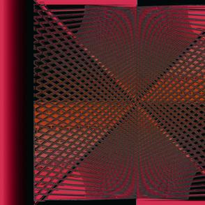 CrissCross Mesh Lines Red Orange Dark Gray