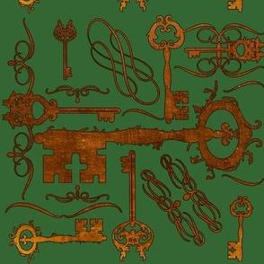 Steampunk Keys Green