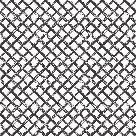 Trellis Fabric black & white trellis fabric - mag-o - spoonflower