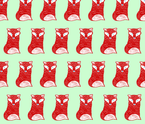 Red Fox fabric by shannon_buck on Spoonflower - custom fabric
