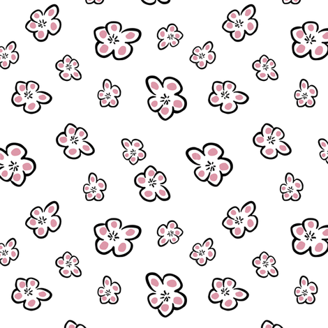 flower power in rose fabric by stofftoy on Spoonflower - custom fabric