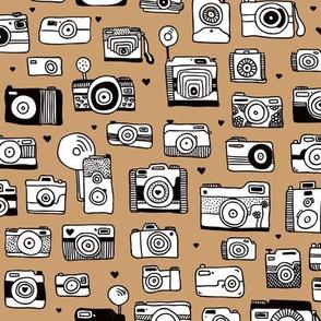 Vintage camera memories cool retro toy camera photagraphy design gender neutral brown