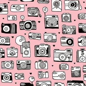 Vintage camera memories cool retro toy camera photagraphy design girls pink