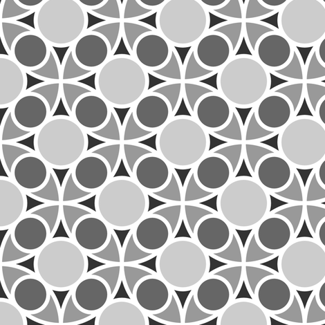 05485209 : R4 circle mix : grey fabric by sef on Spoonflower - custom fabric
