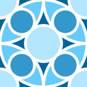 R4X circle mix : azure blue