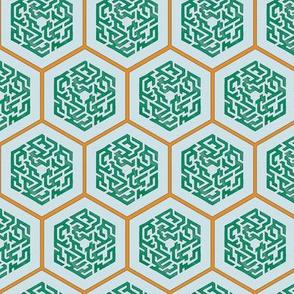 Maze Medallions in Jade