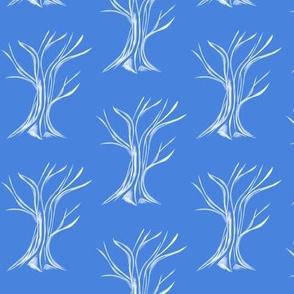 Windswept WinterTrees on Cornish Blue
