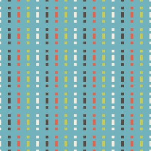 Mid-Century Stripe (Shrimp Palette)
