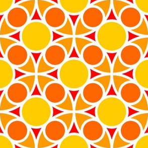 05485713 : R4 circle mix : yellow orange vermilion