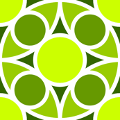 R4X circle mix : chartreuse lime green