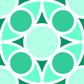R4X circle mix : jade green