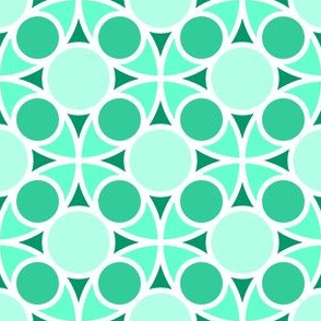 05485724 : R4 circle mix : blue jade green