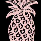 Summer Pineapples (Pink & blue )