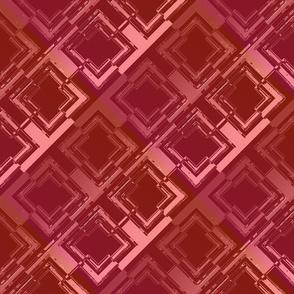 Broken Diamond Metallic Red Pink Orange