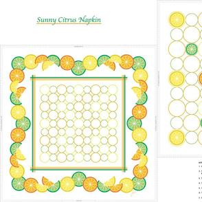 Sunny Citrus Napkin