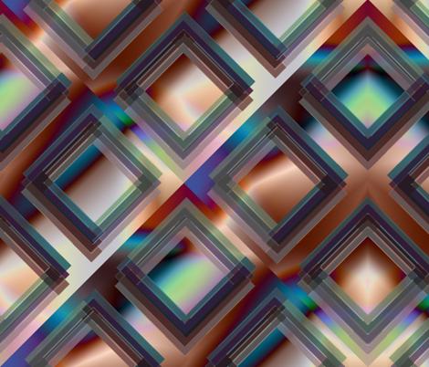 Broken Square Gradient Metallic Wallpaper fabric by deanna_konz on Spoonflower - custom fabric